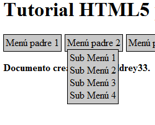 Creación de páginas web desde cero (8 Menus)