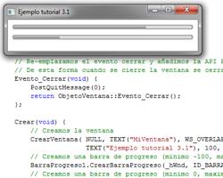 Tutorial WinAPI C++ 3.1 Creación del ObjetoBarraProgreso