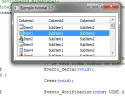 Tutorial WinAPI C++ 3.7 (Creación del ObjetoListView)